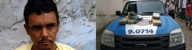 Traficante belmontense é preso em Itagimirim com 08 Kilos de maconha.
