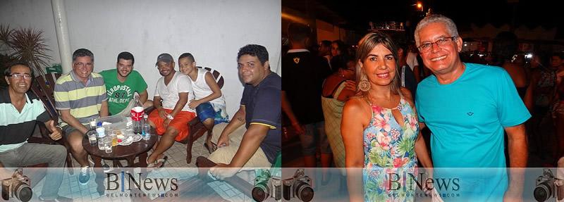Deputado Jânio Natal e Janival prestigiam o carnaval e dizem estar preparados para as eleições.
