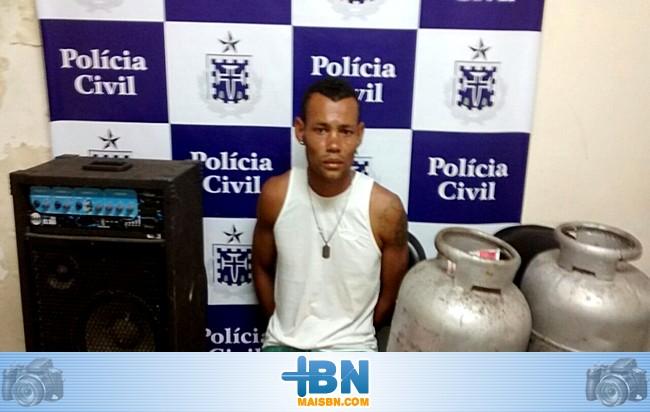 Policia Civil prende acusado de furto a residência que pretende ser candidato a vereador em Belmonte.
