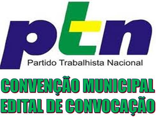 PTN-19 e partidos coligados divulgam edital de convocação para realização de convenções.