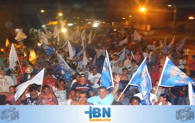 Jânio Natal realiza grande caminhada em Barrolândia e diz estar confiante na vitória.
