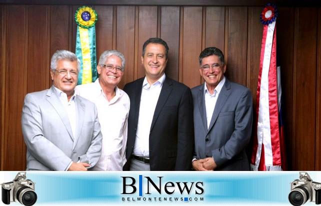 Jânio e Janival se encontram com Governador Ruy Costa e fecham apoio para a nova gestão belmontense.