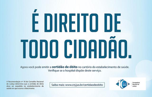 Hospitais na Bahia e em outros 10 estados já podem emitir certidão de óbito.