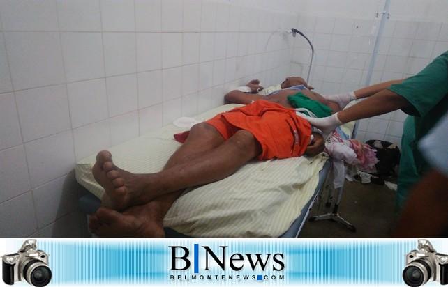 Homem é esfaqueado durante uma desavença ocorrida na Zona Rural de Belmonte.