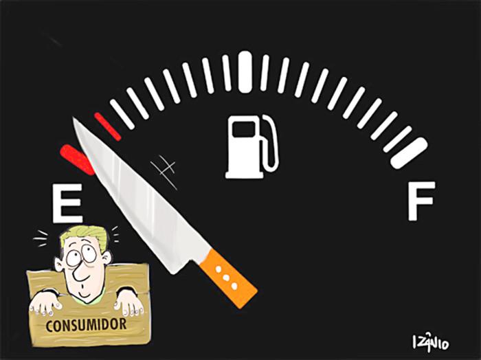 Petrobras aumenta preço da gasolina e valor nos postos pode subir R$ 0,12 por litro.