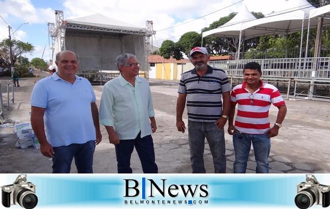 Prefeitura de Belmonte termina de montar as estruturas do Primeiro Festival de Boi Duro da cidade.