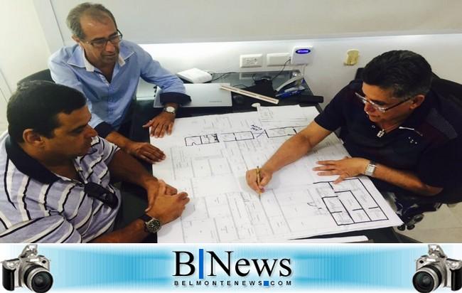 Jânio Natal e Vereadores Aelson e Alfredo conversam sobre Projeto do Centro Administrativo.