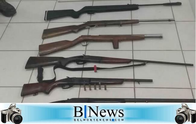 Guarnição da CAEMA apreende veículo roubado e farto armamento em Boca do Córrego.