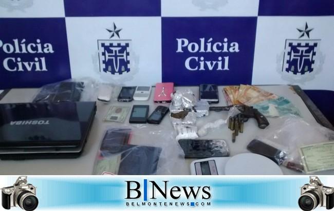 Polícia Civil tira de circulação envolvidos com tráfico de drogas em Belmonte.