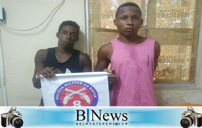 Operação da Polícia Militar prende dupla acusada de cometer assaltos em Belmonte.