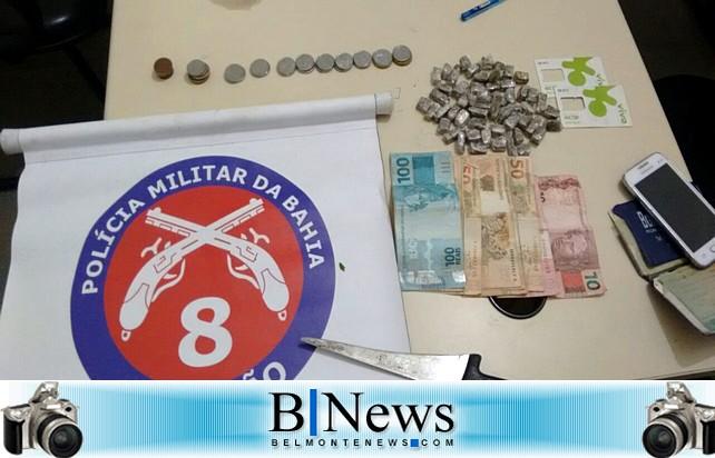 Polícia Militar de Barrolândia estoura ponto de drogas no povoado dos Brejinhos.