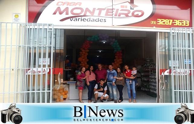 Grande evento marca a inauguração da Casa Monteiro Variedades em Belmonte.