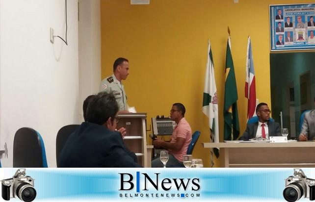 Comandante do 8º Batalhão apresenta a Belmonte os resultados das operações da Polícia Militar.