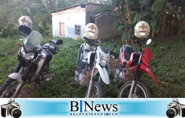 Motociclistas do 8ºBPM-Porto Seguro recuperam 03 motos roubadas no Bairro Vila Vitória.