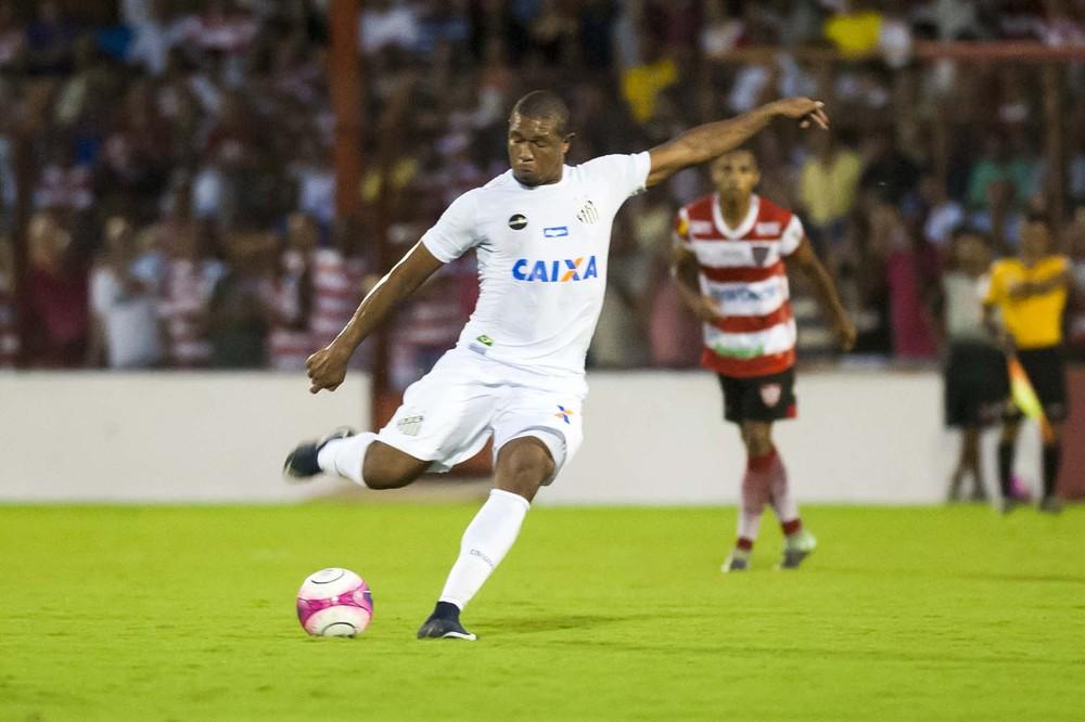 Rodrigão faz golaço e brilha na estreia do Santos no Campeonato Paulista.