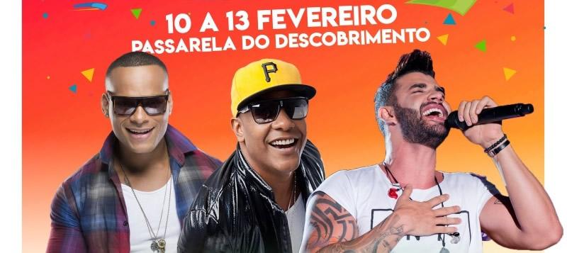 Gustavo Lima, Psirico E Parangolé: Confira As Atrações Do Carnaval De Porto Seguro 2018.