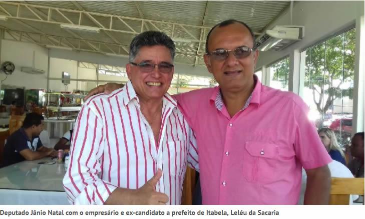 Deputado Jânio Natal recebe apoio de Leléu da Sacaria e outros políticos da região.