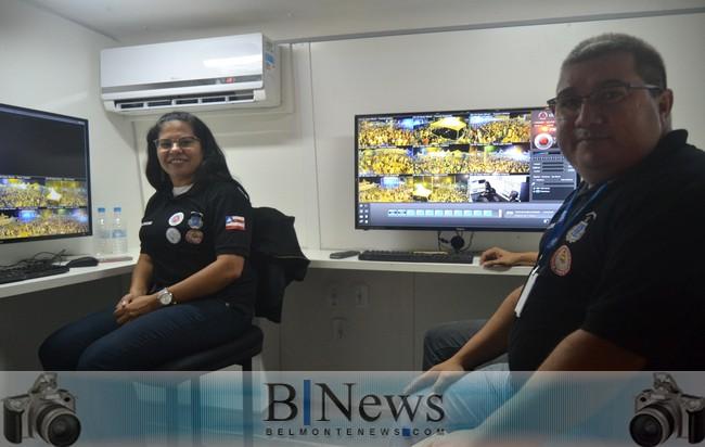 Forças policiais usam tecnologia de ponta no carnaval de Belmonte.
