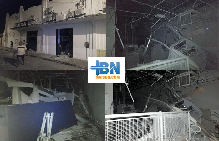 Bandidos fortemente armados assaltam agência da Caixa Econômica em Belmonte. 3