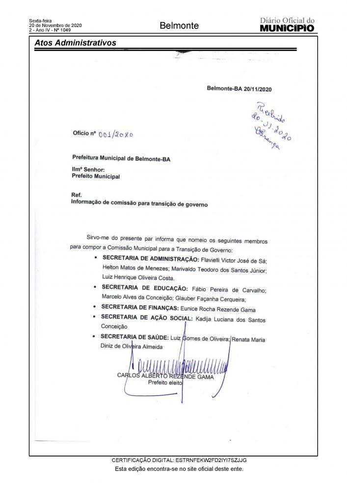 Belmonte: Prefeito eleito Bebeto Gama nomeia a sua equipe de transição. 21